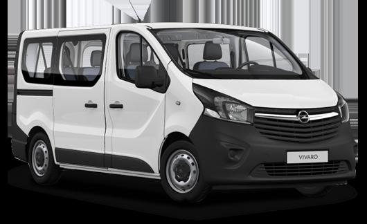 Alquiler Opel Vivaro furgoneta 6 Plazas