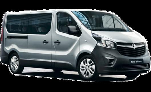 Alquiler Opel Vivaro furgoneta 9 Plazas